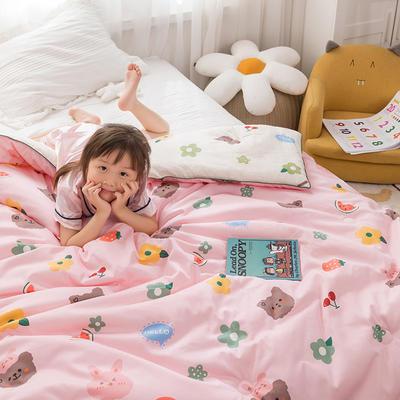 2020新款60支长绒棉儿童印花大豆被冬被被子被芯 150x200cm  4.6斤 曲奇熊