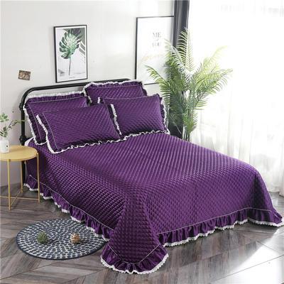 金龙家纺 2019阳离子纯色床盖三件套 1.5m(5英尺)床 深紫