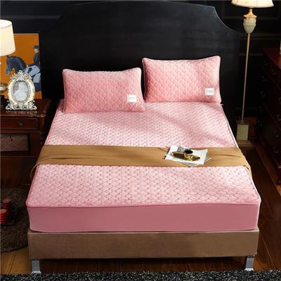 (总)金龙家纺 水晶绒纯色夹棉床笠枕套可单拍 120cmx200cm(定做规格) 浅玉