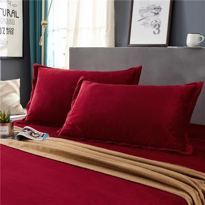 (总)金龙家纺 水晶绒纯色枕套单品一对 48cmX74cm 银灰