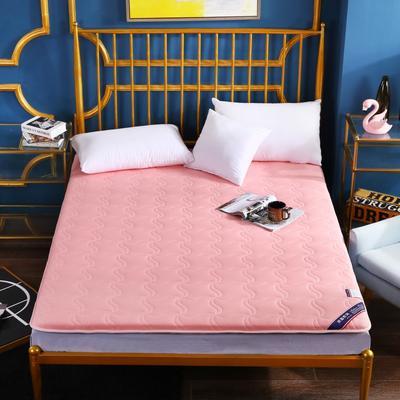 2020新款全棉加厚床垫(长度200) 100*200 全棉加厚粉色