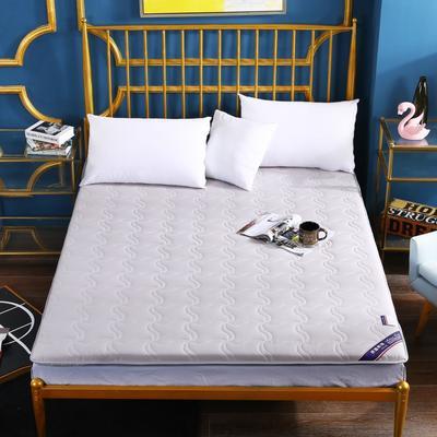 2020新款全棉加厚床垫(长度200) 100*200 全棉加厚灰色