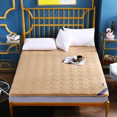 2020新款全棉加厚床垫(长度200) 100*200 全棉加厚驼色