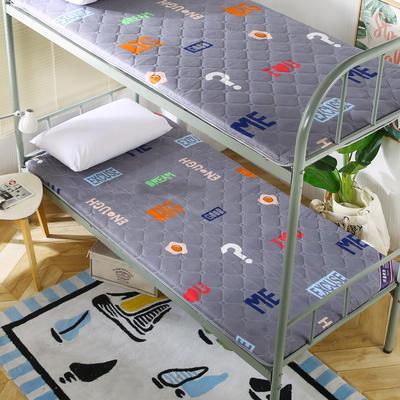 2019新款学生床垫双面活性磨毛床垫 90*190 灰色时尚