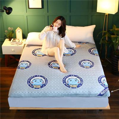 2020新款牛奶绒床垫 0.9m 蓝色(6公分)