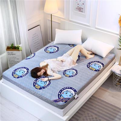 2019新款牛奶绒立体床垫 90×200 牛奶绒灰色(6公分)