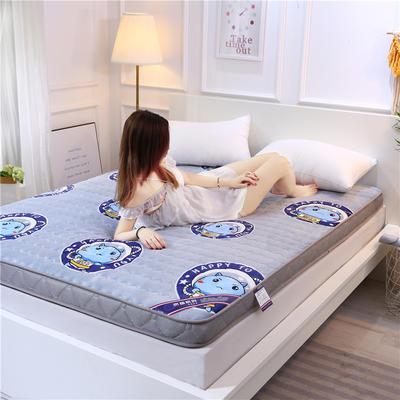 2019新款牛奶绒立体床垫 90×200 牛奶绒灰色(10公分)