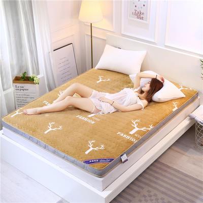 2020新款牛奶绒立体床垫 100×200 牛奶绒麋鹿驼色(10公分)