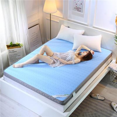 2019新款乳胶加厚立体床垫 90×200 乳胶蓝色(6公分)