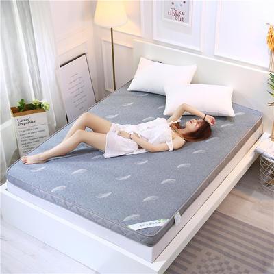 2020新款乳胶加厚立体床垫 100×200 乳胶浅灰色(6公分)