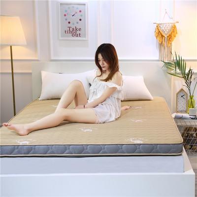 2019新款乳胶加厚立体床垫 90×200 乳胶驼色(6公分)