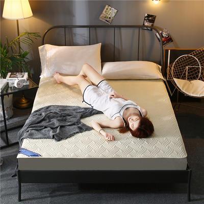 2020新款全棉床笠 120cmx200cm 米黄