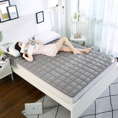 2020新款亲肤舒适水洗棉纯色床垫 1.2mx厚4厘米 银灰色