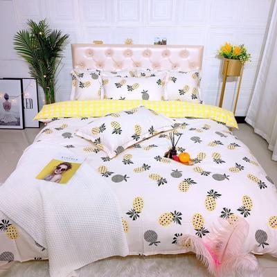 2019新品全棉四件套 1.8m(6英尺)床 菠萝蜜