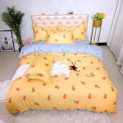 2019新品全棉四件套 1.8m(6英尺)床 小鲜橙