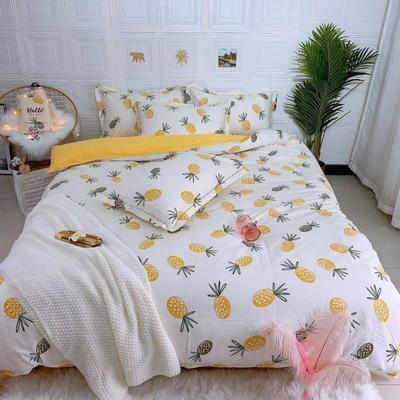 2019新品全棉四件套 1.8m(6英尺)床 菠萝