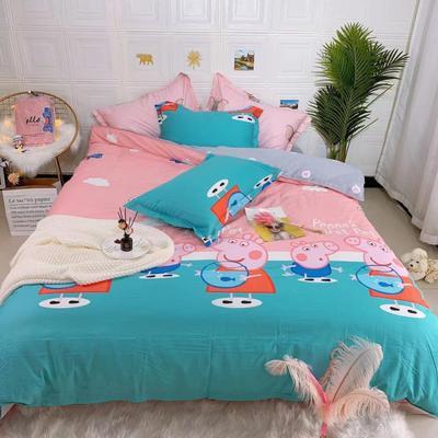 2019新品全棉四件套 1.8m(6英尺)床 粉红猪小妹