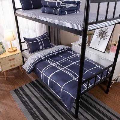2019新款学生宿舍床品全棉三件套 0.9m-1.2m-1.35m床单三件套 简单生活