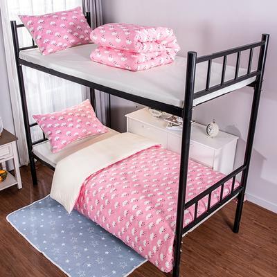 2019新款学生纯棉全棉13376三件套 1.2m(4英尺)床单款三件套 粉色回忆