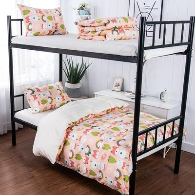 2019新款学生纯棉全棉13376三件套 1.2m(4英尺)床单款三件套 粉色女孩