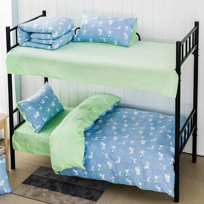 2019新款学生纯棉全棉13376三件套 1.2m(4英尺)床单款三件套 欢乐颂