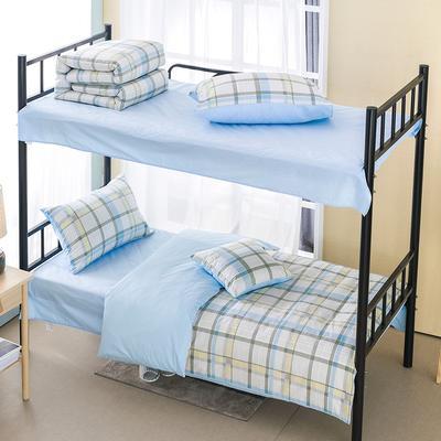 2019新款学生纯棉全棉13376三件套 1.2m(4英尺)床单款三件套 九月物语(黄)