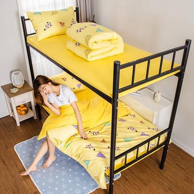 2019新款学生纯棉全棉13376三件套 1.2m(4英尺)床单款三件套 青春