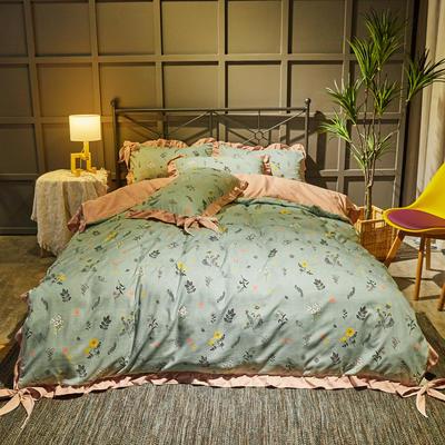 2019新款网红韩版蝴蝶结四件套 1.5m(5英尺)床单款 森林物语