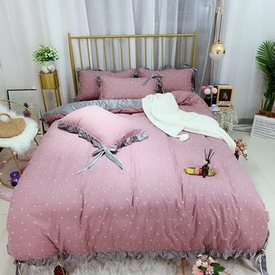2019新款法莱绒水晶绒宝宝绒棉加绒四件套 1.8m(6英尺)床单款 绒童年