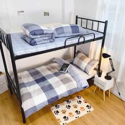 2019新款学生宿舍床品全棉三件套 0.9m-1.2m-1.35m床单三件套 简约空间