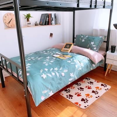 2019新款学生宿舍床品全棉三件套 0.9m-1.2m-1.35m床单三件套 绿野