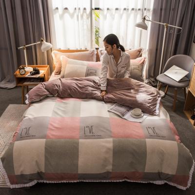 2019新款韩版棉加绒四件套 1.5m-1.8m床单款 遇见