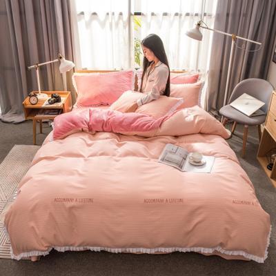 2019新款韩版棉加绒四件套 1.5m-1.8m床单款 约定-玉