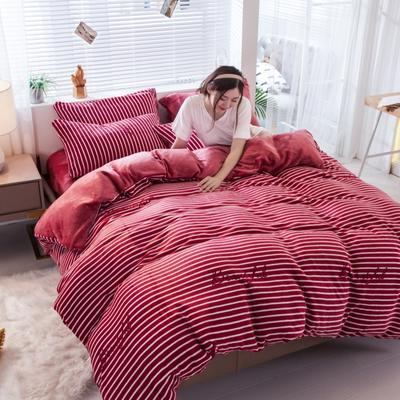 2019新款法莱绒四件套 1.5m-1.8m床单款 爱丽丝