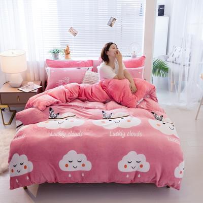 2019新款法莱绒四件套 1.5m-1.8m床单款 梦恋