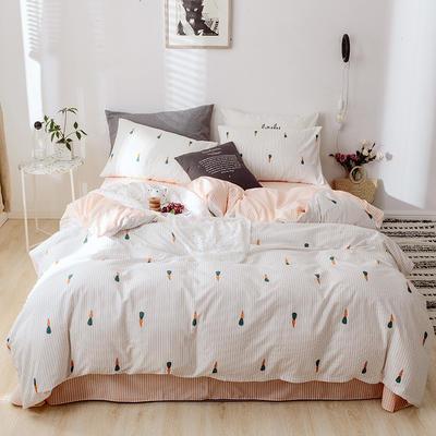 2019新款40全棉喷气四件套 1.5m(5英尺)床 迷你萝卜
