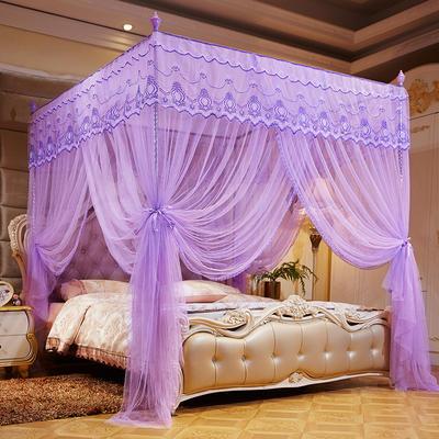 2020新款蚊帳--宮廷 120*200*200cm 花思語 紫色22mm*16mm