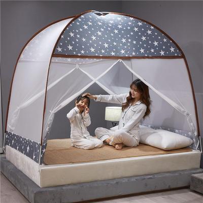 2020新款布顶防蚊蒙古包 1.5m(5英尺)床 繁星点点