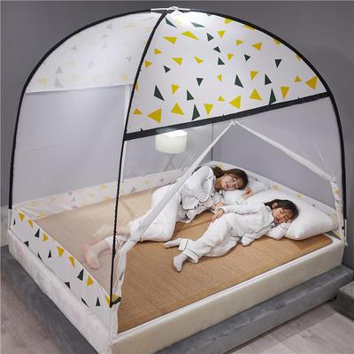 2020新款布顶防蚊蒙古包 1.2m(4英尺)床 几何图形