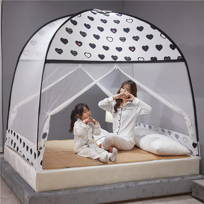 2020新款布顶防蚊蒙古包 1.5m(5英尺)床 白色恋人