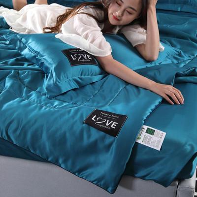 2019新款天丝夏被 48*74cm枕套 深蓝色