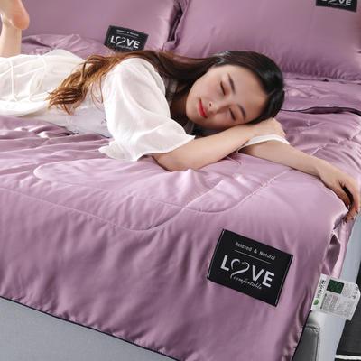 2019新款天丝夏被 48*74cm枕套 深紫色