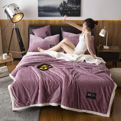 2019新款羊羔绒双层毯 100*140cm 魅惑紫