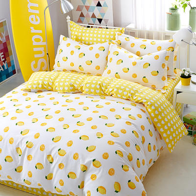 2020新款全棉12868多规格印花四件套(3) 1.2m 一颗柠檬