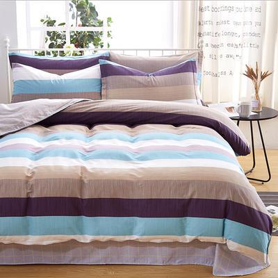 2019新款全棉12868四件套 2.2m(7英尺)床单款 格林