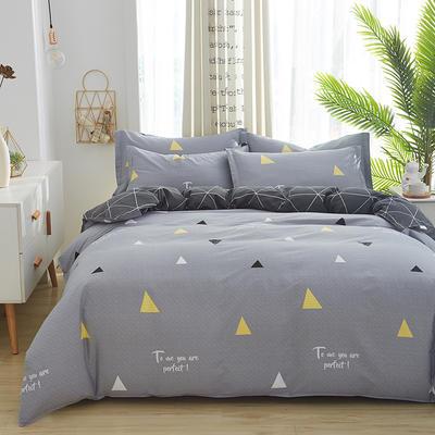 2019新款全棉12868四件套 2.2m(7英尺)床单款 梦莎拉蒂