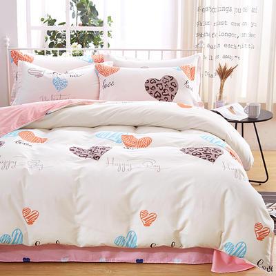 2019新款全棉12868四件套 2.2m(7英尺)床单款 蜜糖甜心