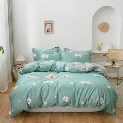2020新款全棉12686印花多规格床笠款四件套 1.2m床笠款三件套 花漾-蓝