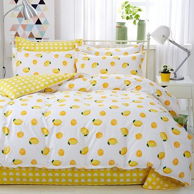 2020新款全棉12686印花多规格床笠款四件套 1.2m床笠款三件套 一颗柠檬