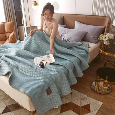 2021新款牛奶绒多功能盖毯毛毯 150x230cm 牛奶绒多功能毛毯-浅蓝